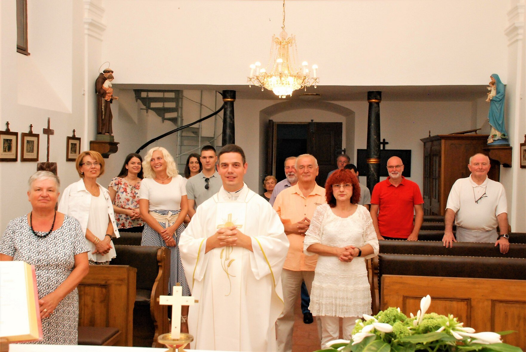 UKI-jevci Poslije Mise,Osijek,crkva Sv. Roka,28.8.20.